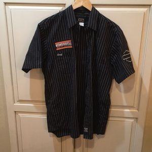Harley Davidson genuine workwear button down shirt